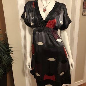❤️ Eyeshadow Black v neck Baby Doll dress